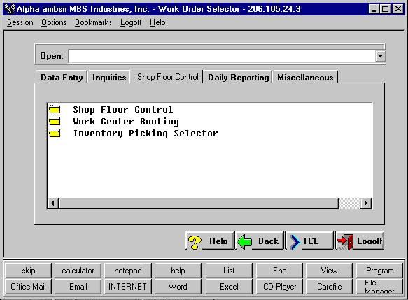ProfiC Work Orders Shop Floor Control